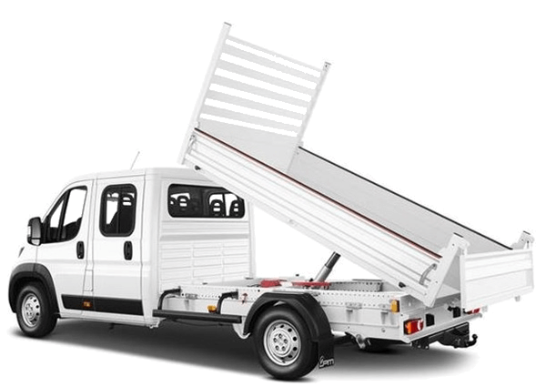 camion benne basculante cabine double